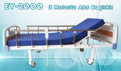 Abs Başlıklı 2 Motorlu Hasta Yatağı