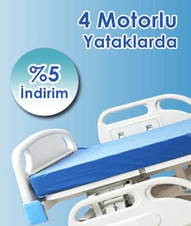 İndirimli 4 Motorlu Hasta Yatağı