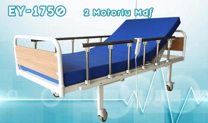 2 Motorlu Alüminyum Yan Korkuluklu Hasta Yatağı
