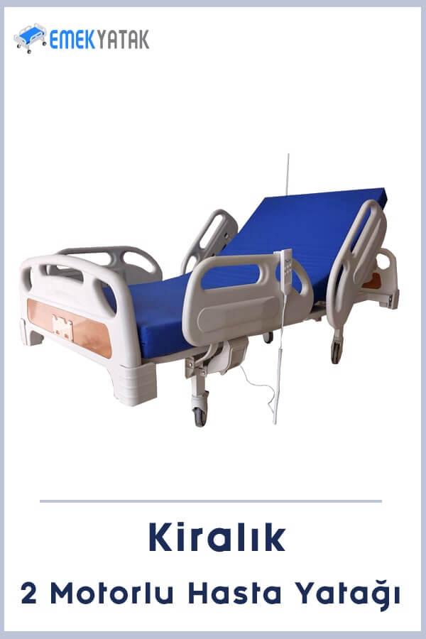 2 motorlu kiralık hasta yatağı