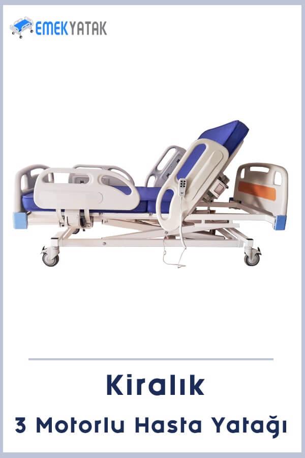 3 motorlu kiralık hasta yatağı