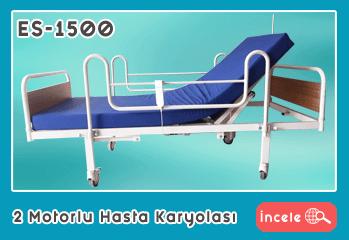 2 Motorlu Ekonomik Hasta Karyolası EY-1500