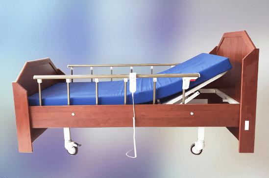 Hasta Yatağı 2 Motorlu Ahşap