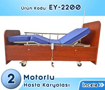 Ev Tipi Ahşap Hasta Yatağı EY-2200