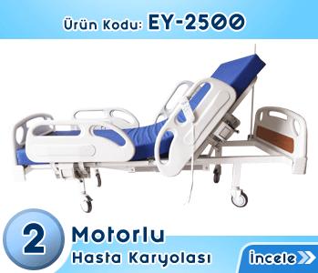 2 Motorlu Elektrikli Hasta Karyolası EY-2500
