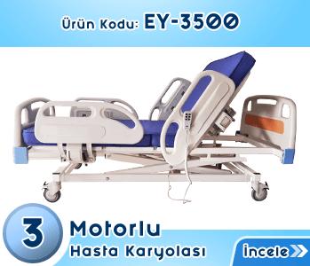 3 Motorlu Hasta Karyolası EY-3500