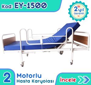 2 motorlu hasta karyolası ve yatağı EY-1500