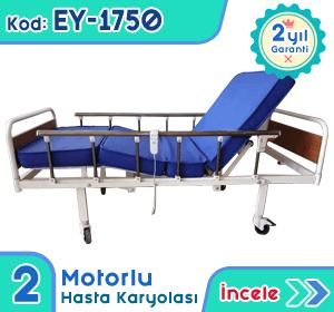 2 motorlu hasta karyolası ve yatağı EY-1750