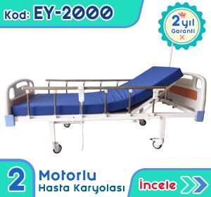 2 motorlu hasta karyolası ve yatağı EY-2000
