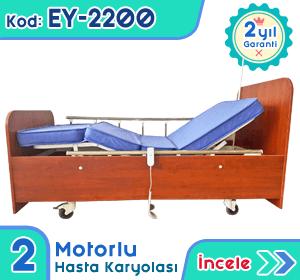 2 motorlu hasta karyolası ve yatağı EY-2200