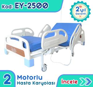 2 motorlu hasta karyolası ve yatağı EY-2500