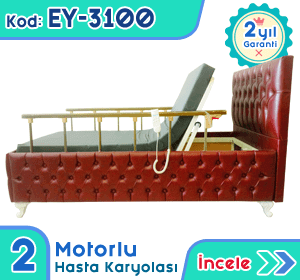 2 motorlu hasta karyolası ve yatağı EY-3100