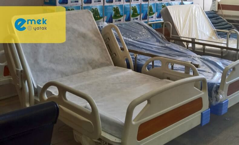 4 parçalı hasta yatakları
