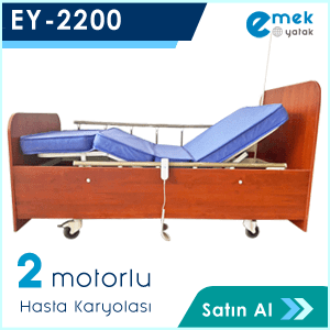 EY-2200 2 Motorlu Ahşap Hasta Yatağı