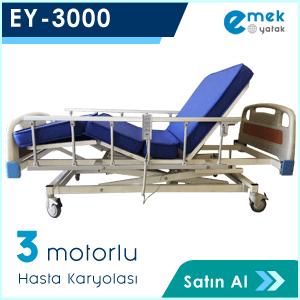 EY-3000 3 Motorlu Hasta Yatağı