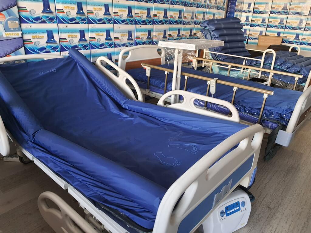 Konfor sağlayan elektrikli hasta yatakları