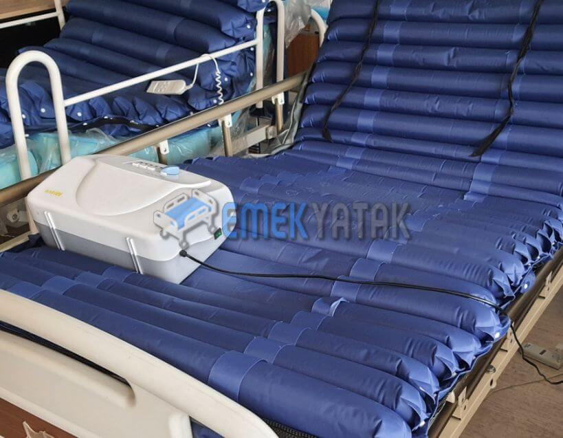 Sürekli yatan hasta için havalı yatak